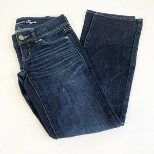 American Eagle Slim Boot Jeans 00 Blue Whiskered L